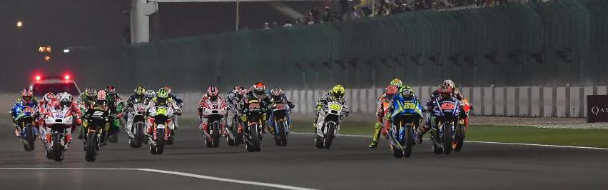 Buena salida de Iannone. Foto: MotoGP