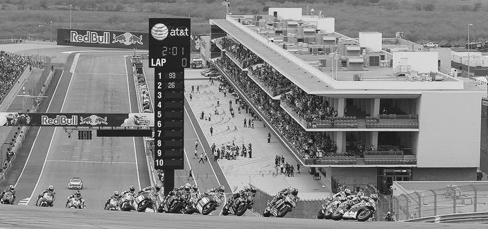 Frenada de final de recta en COAT. Foto: Repsol Honda
