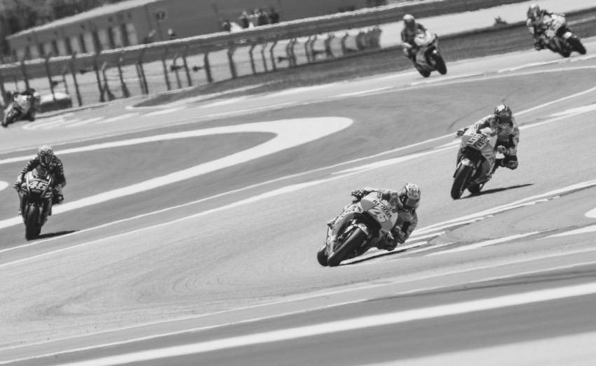 El recto de Rossi que motivó la sanción. Foto: MotoGP
