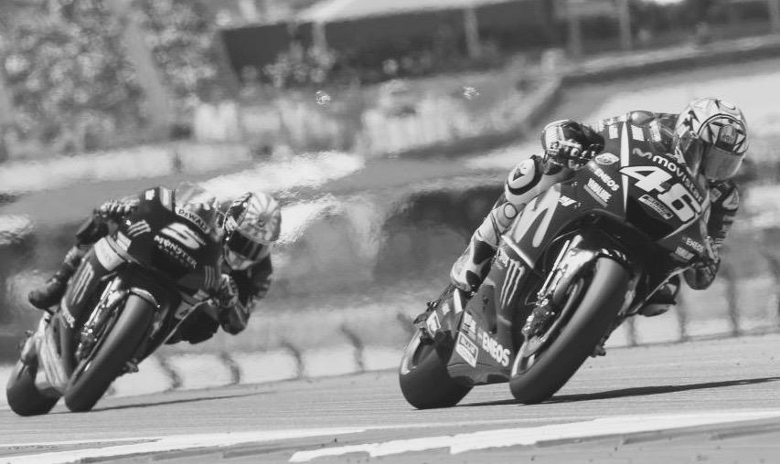 Zarco, tras Rossi. Foto: MotoGP