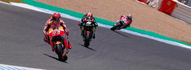 Sólo dos llegarían al podio. Foto: MotoGP