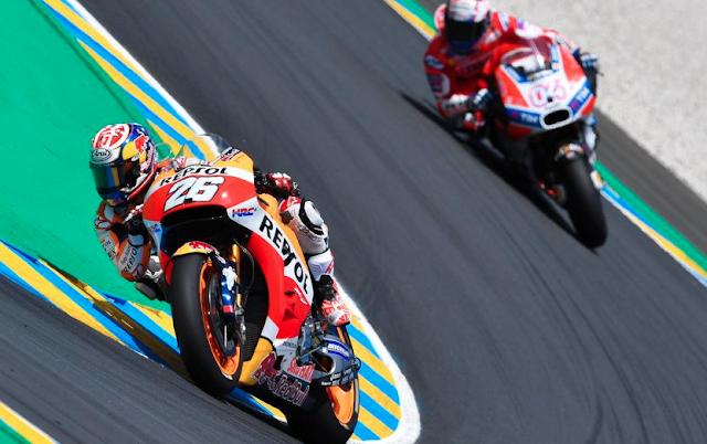 Pedrosa tras pasar a Dovizioso. Foto: MotoGP