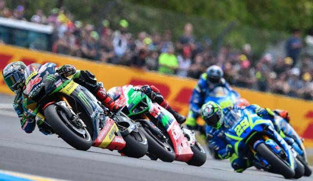De mitad para atrás. Foto: MotoGP