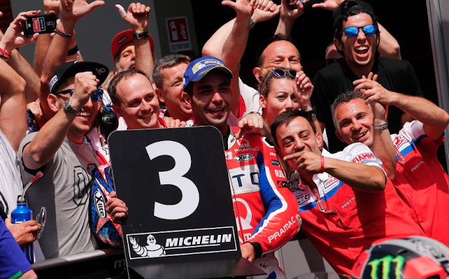 Petrucci: ¡Han cantado línea! Foto: MotoGP