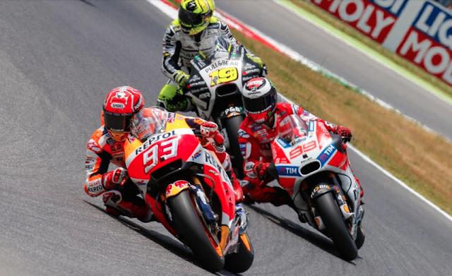 Los primeros compases de carrera. Foto: MotoGP