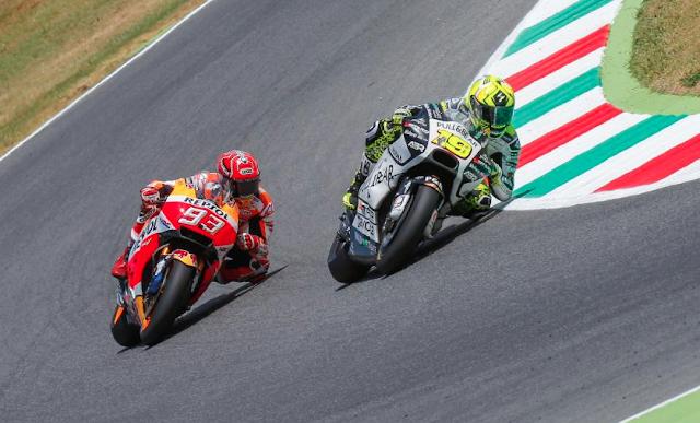Gran carrera de menos a más de Bautista. Con una buena salida...Foto: MotoGP