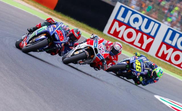 Maverick, cuando aún lideraba. Foto: MotoGP