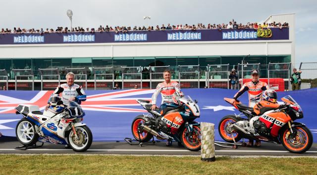 Gardner, Doohan y Stoner. Cremita aussie. Foto: MotoGP