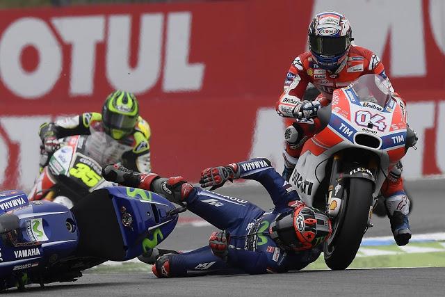 Viñales puede decir que en Assen tuvo suerte. Foto: MotoGP