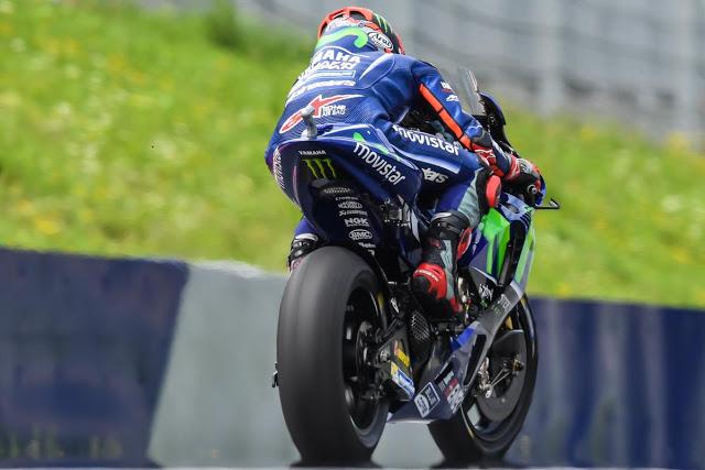 Maverick, empantanado. Foto: MotoGP