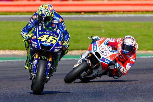 Rossi se vio ganador a 5 del final. Foto: MotoGP