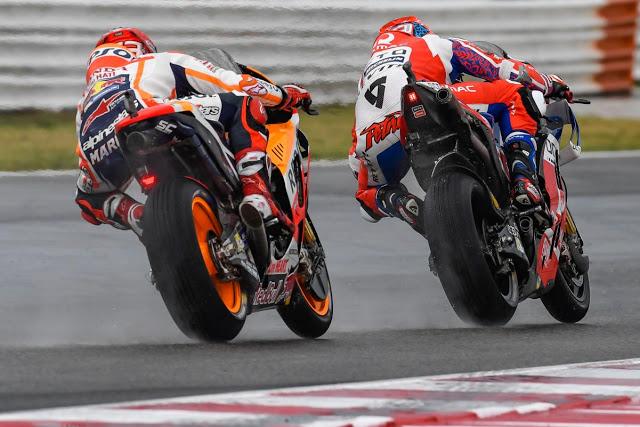 Petrucci notaba la presencia de Márquez. Foto: MotoGP