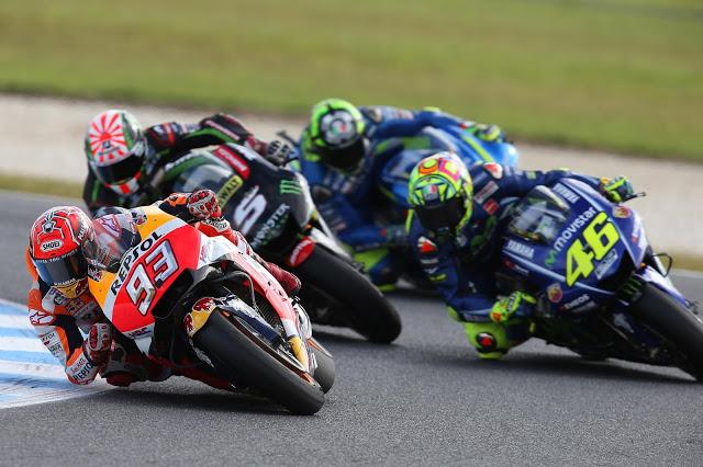 Márquez atacó una vez. Foto: MotoGP