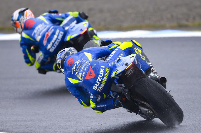 Las Suzuki cuajaron su mejor GP. Foto: MotoGP