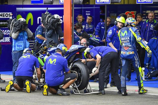Movida con los neumáticos. Foto: MotoGP