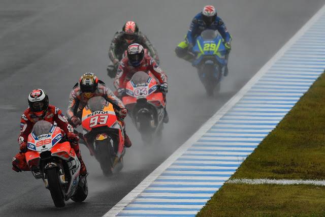 Hubo agua todo el fin de semana. Foto: MotoGP