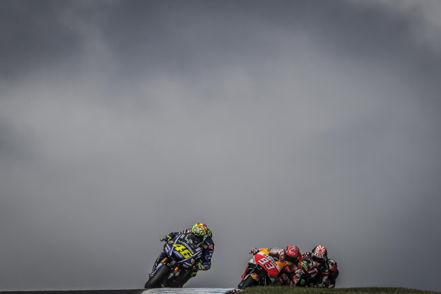 Lucky Heights, antes de la frenada. Foto: MotoGP
