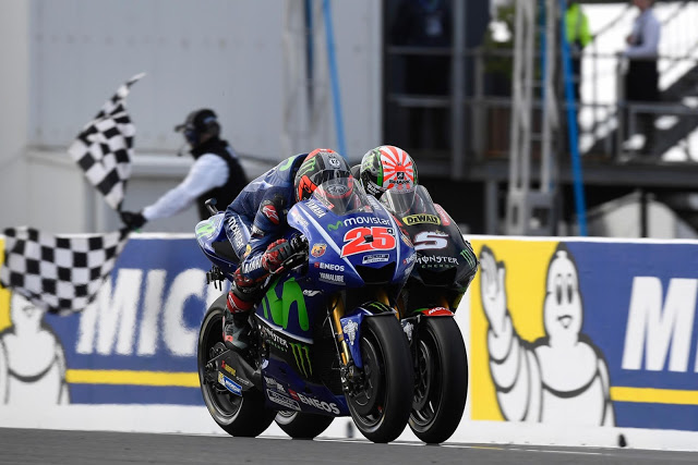 Duelo Yamahero. Foto: MotoGP