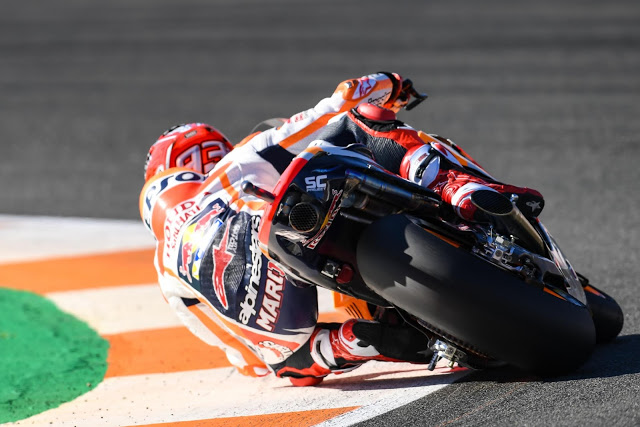 Buena plegada. Foto: MotoGP
