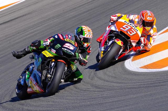 A punto de piñar. Foto: MotoGP