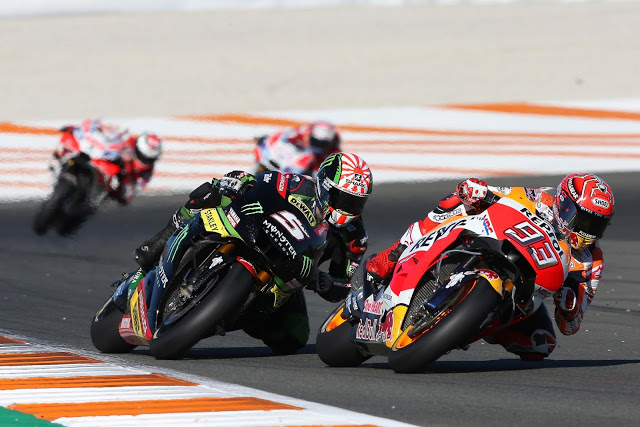 Primeros compases de la carrera. Foto: MotoGP