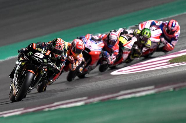 En la foto, de cinco motos, dos son oficiales. Foto: MotoGP