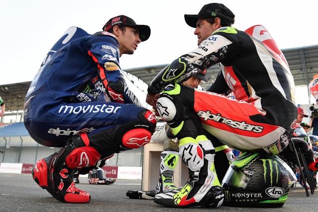 Luego dicen que en la pista no hay amigos. Foto: MotoGP