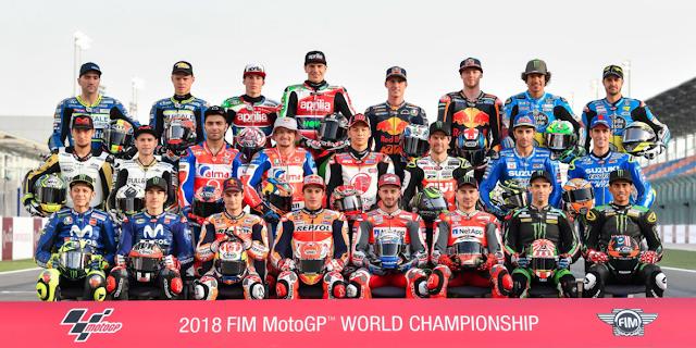 En esta foto está el Campeón del Mundo de MotoGP 2018. Foto: MotoGP