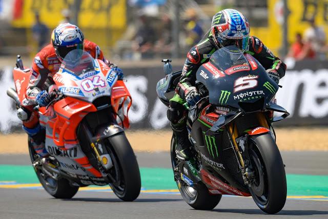 Zarco y Dovi, muy activos a principio de carrera. Foto: MotoGP