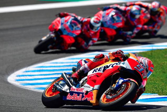 Por ahora, marcando el paso. Foto: MotoGP