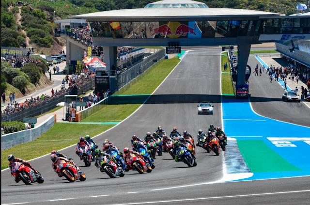 Salida perfecta de Jorge Lorenzo. Foto: MotoGP