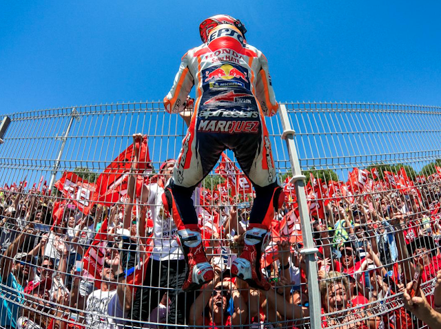 Márquez, desatado. Foto: MotoGP