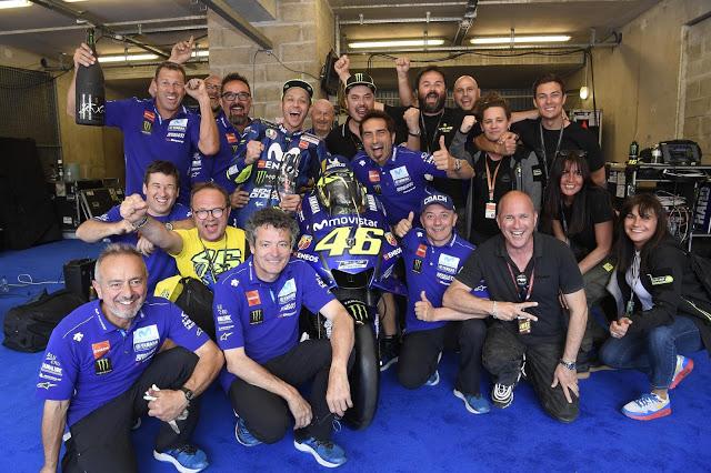 En Yamaha, la risa va por barrios. Foto: MotoGP