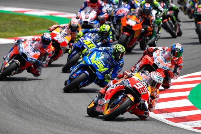 Lorenzo no hizo una buena salida. Foto: MotoGP