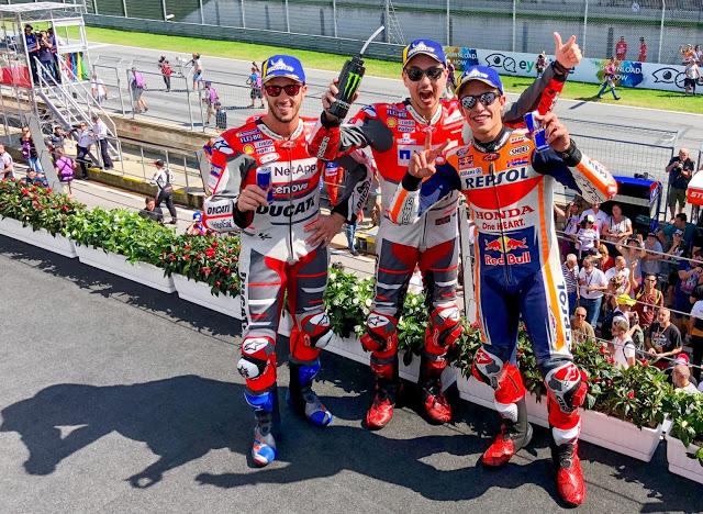 Lenguaje gestual. MotoGP