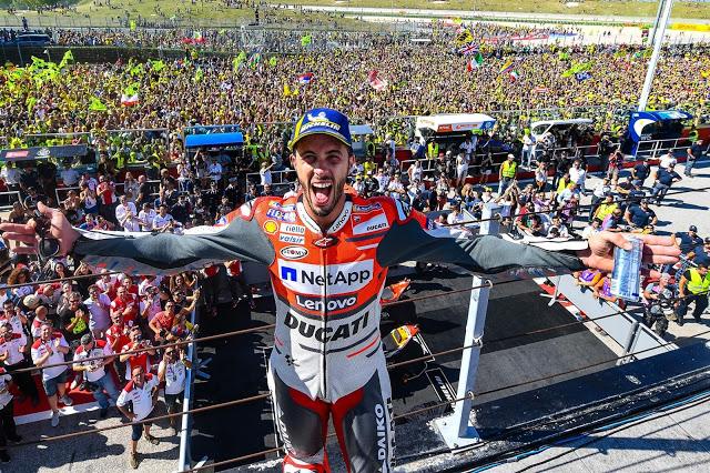 Dovizioso en la gloria. MotoGP