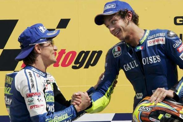 Rossi y Gibernau también empezaron de colegas.