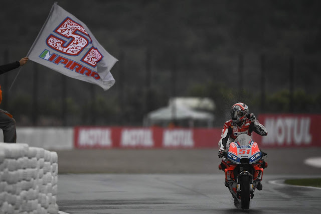 Pirro firmó un 4º puesto como wild card. MotoGP