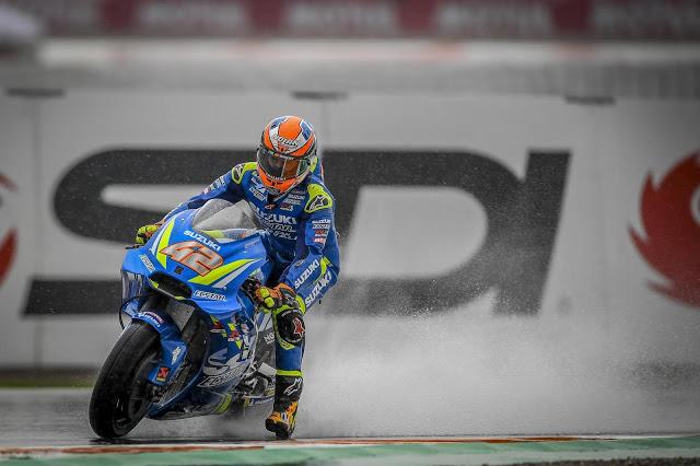 Álex Rins, a saco. MotoGP