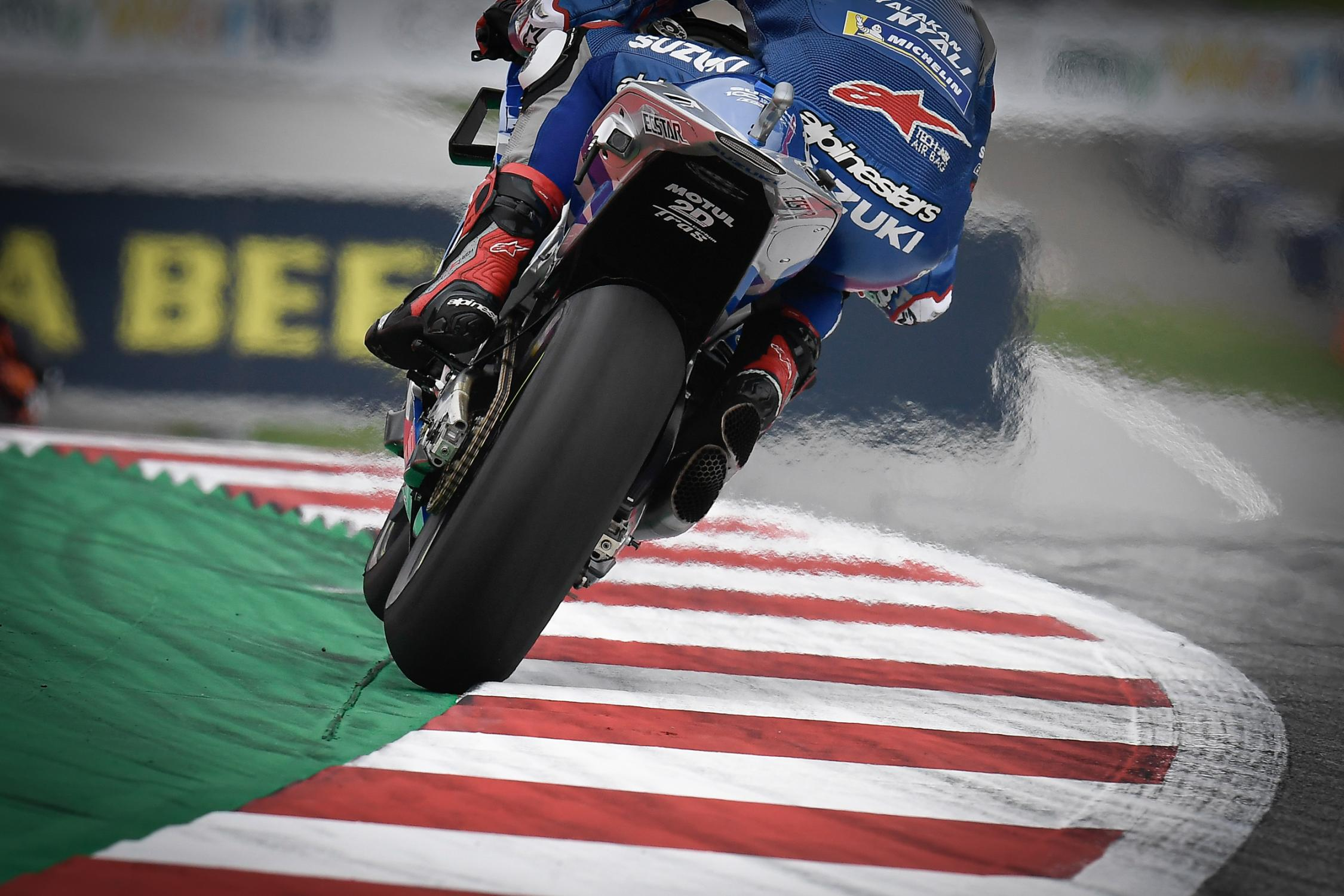 Rins estuvo cerca, pero falló Foto: MotoGP