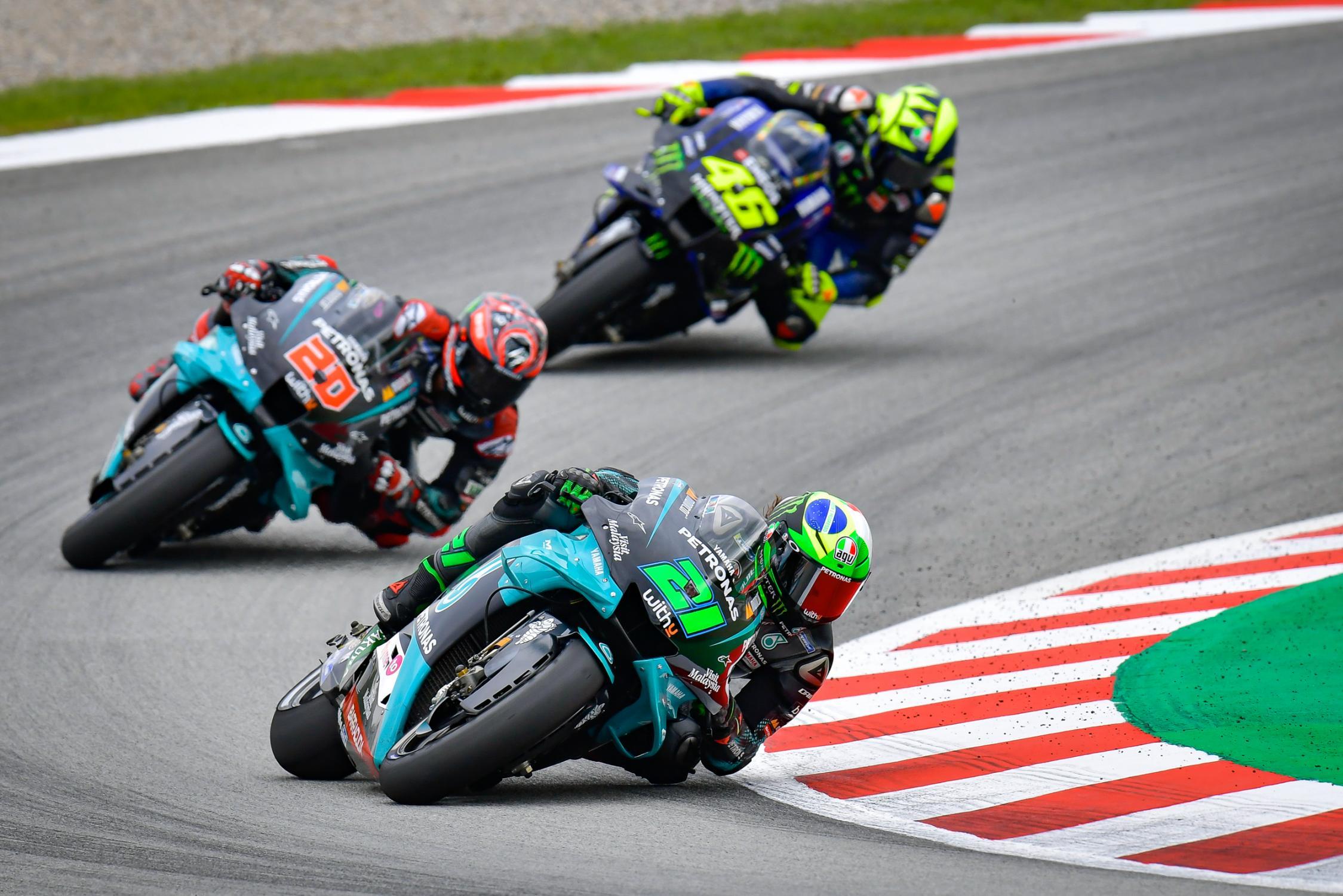 Las Yamaha, cuando van, van. Foto: MotoGP